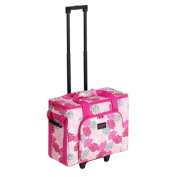 Creative Notions Sewing Machine Trolley in Pink Grey Print