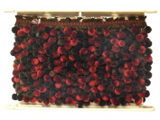 Conso Chocolat Knitted Pom Braid 3.8cm Raspberry