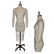 Half Body Female Dress Form Size 6 - Collapsible Shoulders and Two Removable Arms for Fashion Designers and Sewing