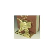 Mayer Mill Brass Smooth Fox Book Ends - Pair