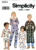 Simplicity 9853 Toddlers' & Child's Loungewear Size AA