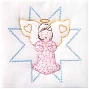 Stamped White Quilt Blocks 23cm x 23cm 12/Pkg-Angel