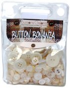 Button Bonanza .5Lb Assorted Buttons-Ivory
