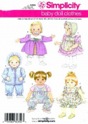 Simplicity 3876 Sewing Pattern Baby Doll Wardrobe