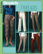 Simplicity Sewing Pattern 4366 Threads Magazine Collection Pants, Capris Size