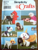 Simplicity 9884 Sewing Pattern - Crafts - MAKE - Dog Coats and Costumes - Small to Medium