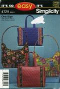 Simplicity It's so Easy Bags Pocketbook Sewing Pattern # 4729