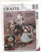 McCall's Crafts Button Dolls Sewing Pattern # 6725