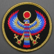 7.6cm Horus Egyptian God Embroidered Cloth Patch, PA5