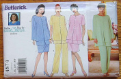 Delta Burke Women's Tunic, Skirt and Pants, Butterick 4874 Sewing Pattern Sizes 14W-18W