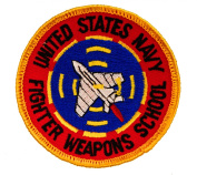 US Navy Fighter Weapons School 7.6cm Embroidered Patch