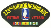 173RD AIRBORNE BRIGADE VIETNAM VETERAN BLACK PATCH(Can be sewn or ironed on jacket or hat) Patch 7.6cm x 13cm