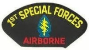 1ST SPECIAL FORCES AIRBORNE EMBLEM BLACK PATCH(Can be sewn or ironed on jacket or hat) Patch 7.6cm x 13cm
