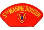 5TH MARINE DIVISION EMBLEM RED PATCH(Can be sewn or ironed on jacket or hat) Patch 7.6cm x 13cm