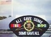ALL GAVE SOME * SOME GAVE ALL* VIETNAM MEMORIAL BLACK PATCH(Can be sewn or ironed on jacket or hat) Patch 7.6cm x 13cm