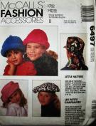 McCALL'S 6497 ~ 9 - CHILDREN HATS