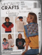 McCall's Crafts Pattern 6722 Creative Clothing Snip Snip Technique - One Size
