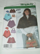 Simplicity 4785 Misses' Capelet in Two Lenghts and Poncho, Hat and Bag