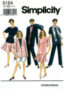 Simplicity 8184 Sewing Pattern Misses Pants Shorts Skirt Tunic Jacket Scarf Size 18 - 24 - Bust 40 - 46