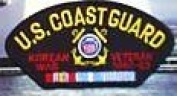U.S. COAST GUARD KOREAN WAR VETERAN 1950-53 BLACK PATCH(Can be sewn or ironed on jacket or hat) Patch 7.6cm x 13cm