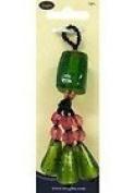 Wrights 7.6cm - 1.3cm Beaded Tassel Green 6pcs