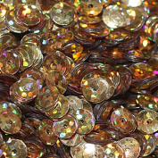 5mm CUP SEQUINS Gold Hologram Loose sequins for embroidery, applique, arts, crafts, and embellishment. Made in USA