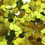 6mm FLAT SEQUINS Yellow Loose sequins for embroidery, applique, knitting, arts, crafts, and embellishment.