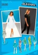 SIMPLICITY PATTERN 3530 PROJECT RUNWAY MISSES'/MISS PETITE DRESS OR TUNICWITH NECKLINE AND SLEEVE VARIATIOND SIZE R5 14-22