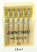 Janome Sewing Machine Universal Needle Size 11 in 5 needles per pack