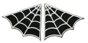 SpiderWeb Spider Web Collar Punk Gothic Iron On Patches B/W