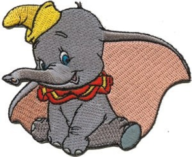 Dumbo the Elephant Big Ears Embroidered Iron On Disney Movie Character Patch DS-209