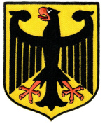 Germany Coat of Arms Patch German Eagle Shield Embroidered Iron-On Aufnäher