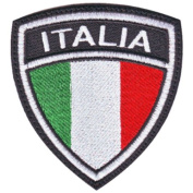 Italy Crest Flag Embroidered Sew On Patch