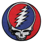 Grateful Dead Garcia Patch - 13cm Red Steal Your Face