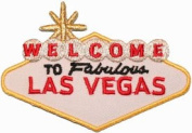 Welcome To Fabulous Las Vegas Travel Souvenir Iron On Applique Patch White