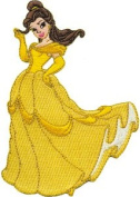 Disney Beauty & The Beast Princess Belle Embroidered Iron On Patch DS-63