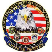 American Warriors 13cm Back Patch