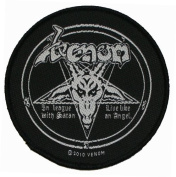Venom In League With Satan Black Music Band Woven Patch