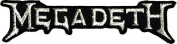 Megadeth Silver Music Band Logo Iron On Embroidered Applique Patch CD1319