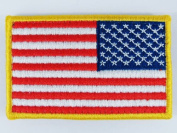 Airsoft US United States USA Reverse Flag hook and loop Patch