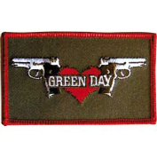 Green Day Guns And Hearts Logo Music Band Embroidered Iron On Patch p1478