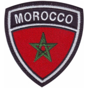 Morocco Crest Badge Flag Embroidered Sew On Patch