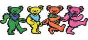 Grateful Dead Garcia 15cm Dancing Bear Strip Embroidered Iron On patch p1280