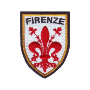 Italy Florence Firenze Shield Embroidered Sew On Patch