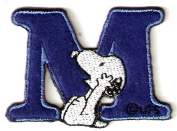 Snoopy ABCs Alphabet Letter M Iron On / Sew On Patch