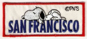 Snoopy sleeping on San Francisco Embroidered Peanuts Iron On / Sew On Patch