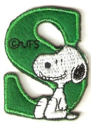Snoopy ABCs Alphabet Letter S Iron On / Sew On Patch