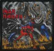 Iron Maiden Number Of The Beast Woven Metal Music Band Applique Patch