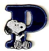 Snoopy ABCs Alphabet Letter P Iron On / Sew On Patch