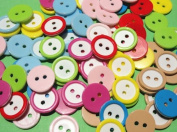 100x 15mm Cute Flower Plastic Button Sewing Mix